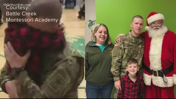 One Good Thing: Dad surprises his son at school for Christmas
