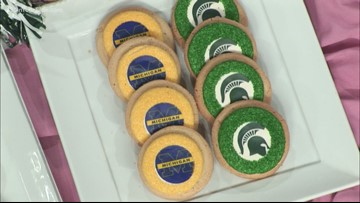 Ryke's Bakery | Michigan vs. Michigan State cookie poll
