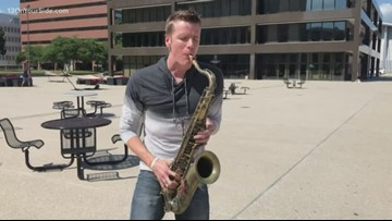A beat boxing saxophone player... yeah, you read that right.