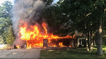 Three kids safe after serious house fire in Hudsonville
