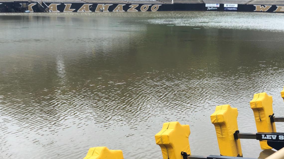 Waldo Stadium completely flooded