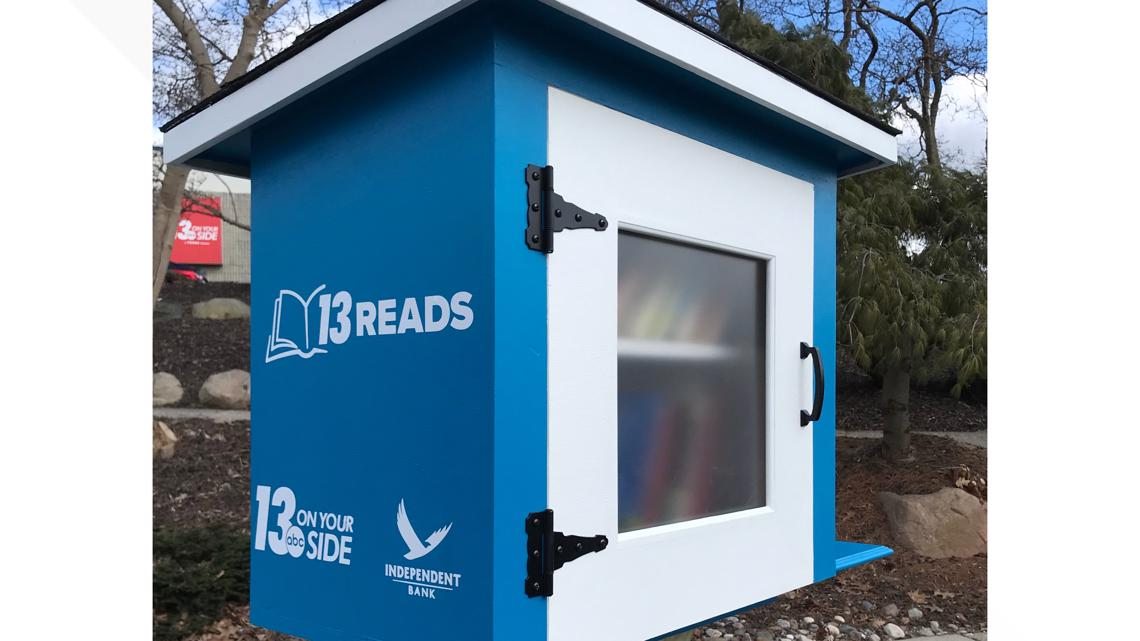 Little Free Library given away at the West Michigan Home and Garden Show
