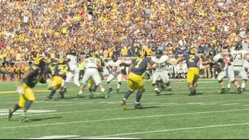 Harbaugh proud of Michigan's fight against Army