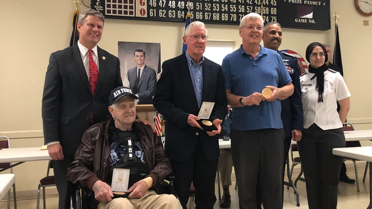Congressional Gold Medals presented to Michigan father and son for service during WWII