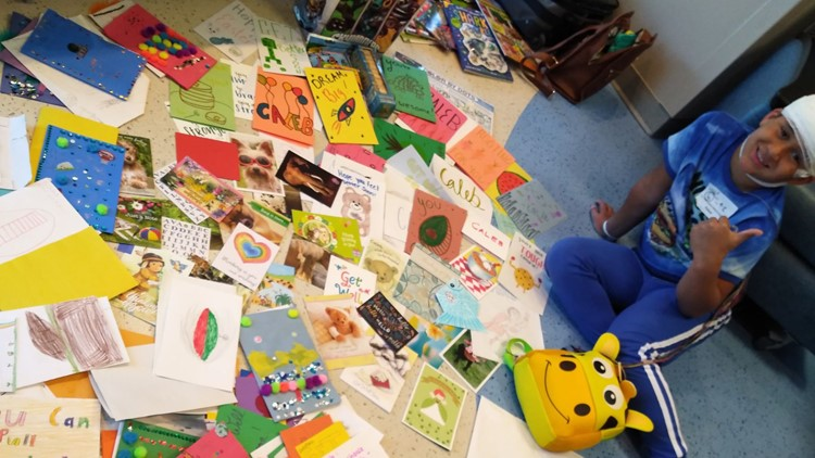 'So overwhelmed'   300 cards sent to Michigan boy in hospital during spring break