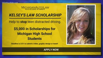 Just Drive: Kelsey's Law Distracted Driving Awareness Scholarship open to Michigan students