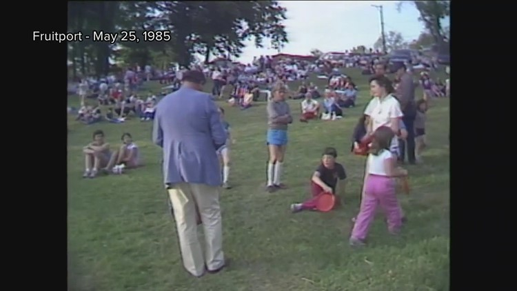 Remembering Doug Mills: Footage of WZZM hot air balloon pilot from 1985