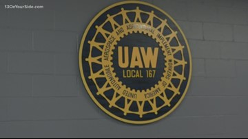 Governor Whitmer visits with UAW workers in Wyoming