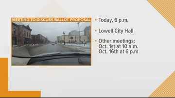 Lowell income tax proposed to fix roads