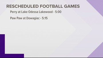 West Michigan high schools move up football games to avoid risk of EEE
