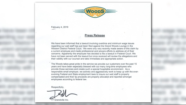 Press Release from Woods Lounge