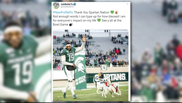 His parents died while he was in college. On Senior Day, this MSU player walked with his 2 dogs.