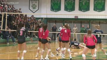 High school volleyball state quarterfinals: Lowell vs. Mattawan