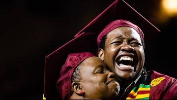 Mom attends son's commencement instead of her own, gets surprised with degree
