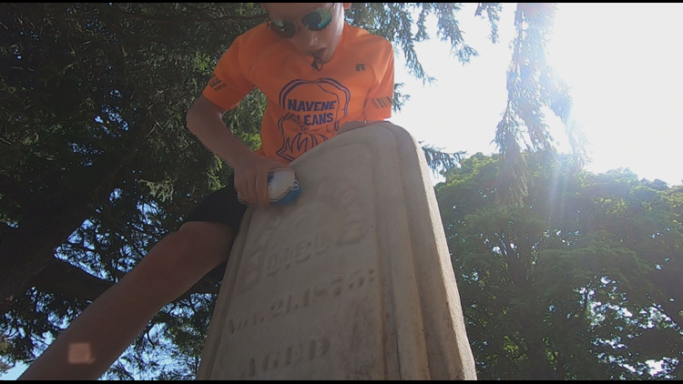 TAKING IT TO THE GRAVE: Otsego boy launches unique summer business