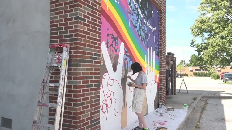 Spring Lake hires young artists to paint new murals