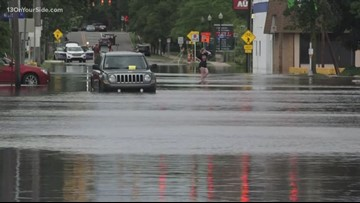 Rainfall floods Kalamazoo homes and closes roads