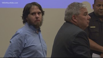 Jury finds Adam Nolin guilty of killing his girlfriend, then shooting at police on US-131