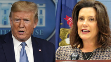 'Failed Governor': Trump critiques Whitmer's pandemic response