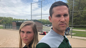 JESSE'S GIRL: Her softball showdown with dad