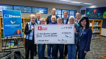 13 Reads: Kent District Library presented with $7K for 'Mission: READ!'