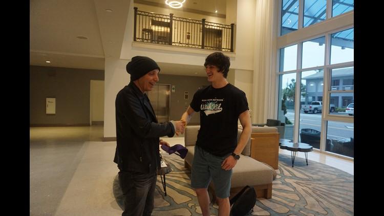 kyler meets rockstar idol