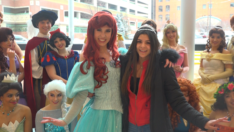 Princess Day at the Grand Rapids Griffins brings out a cast of characters