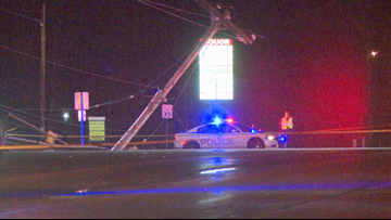 Car crash takes out power pole, knocks out power in Wyoming