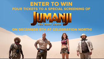 CONTEST COMPLETE - Enter to win four tickets to a special screening of Jumanji: The Next Level!