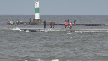 High waves and strong winds prompt beach hazard advisory for many lakeshore communities