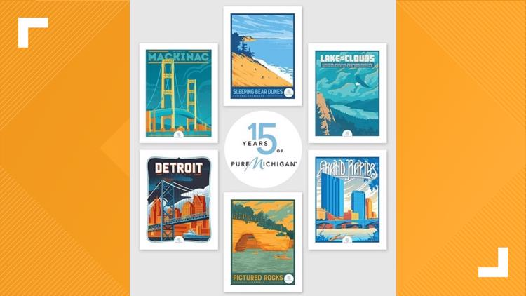Limited edition prints for Pure Michigan's 15th anniversary now available