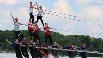 Grand City Show Skiers showcase skills at Coast Guard Festival