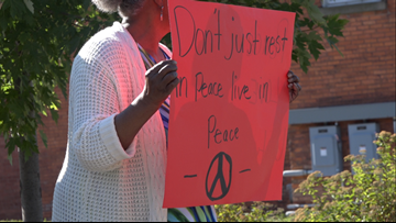 'Stop the violence, keep the peace' | Crowd walks in GR to promote unity