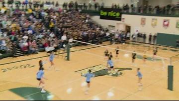 High school volleyball state quarterfinals: GR Christian vs Hamilton