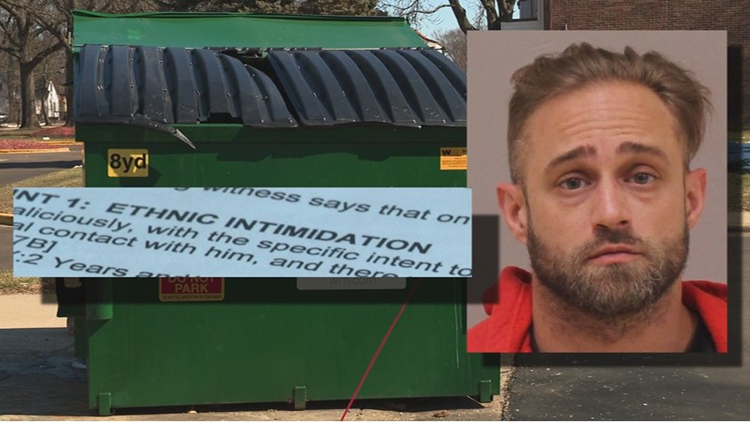 Trash Talk: Dispute over dumping has man charged with ethnic intimidation
