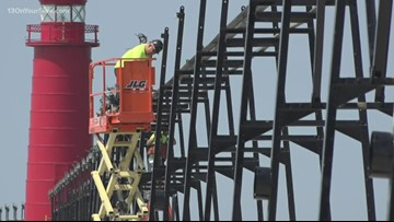 Weather, water levels delayed completion of south pier catwalk