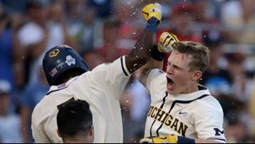 Michigan beats Vanderbilt 7-4; first title since '62 is one win away