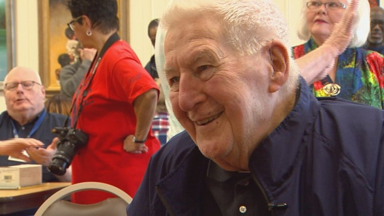 Legendary South High School varsity basketball coach Mike Murphy frequently makes appearances at most of the events held for South alums to attend. He coached at South from 1949-1964. He's 98 years old.