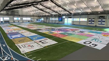 American Chemistry Society attempts world's largest periodic table at GVSU