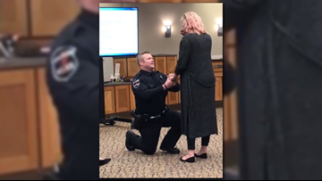 New Walker police officer proposes moments after being sworn in