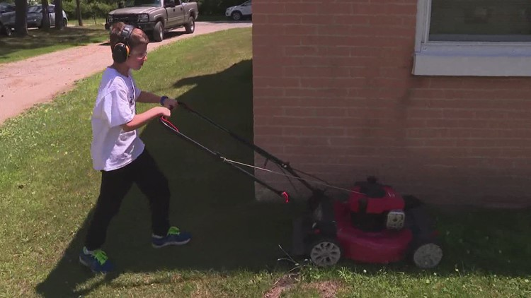 'MOW 'EM DOWN': 8-year-old Muskegon boy cutting 50 lawns for free to 'help people'
