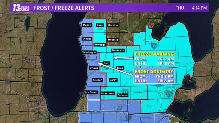 Frost / Freeze Alert - October 17, 2019