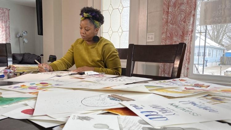 Holland artist shares powerful messages through paint