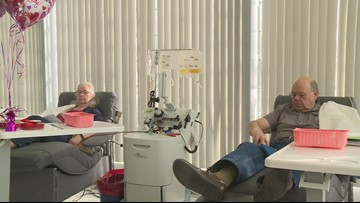 Local couple spends Valentine's Day donating blood