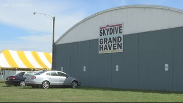 Skydiver who died in Grand Haven made low turn