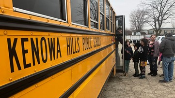 THE BUS STOP IS A 'START': School buses deliver food to community during COVID-19 outbreak