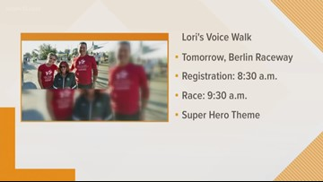 Lori's Voice Walk for the Challenged coming to Berlin Raceway