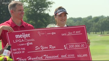 Meijer LPGA champion donates a portion of her winnings