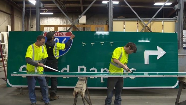 Made in Michigan: Highway signs in Grand Blanc Township