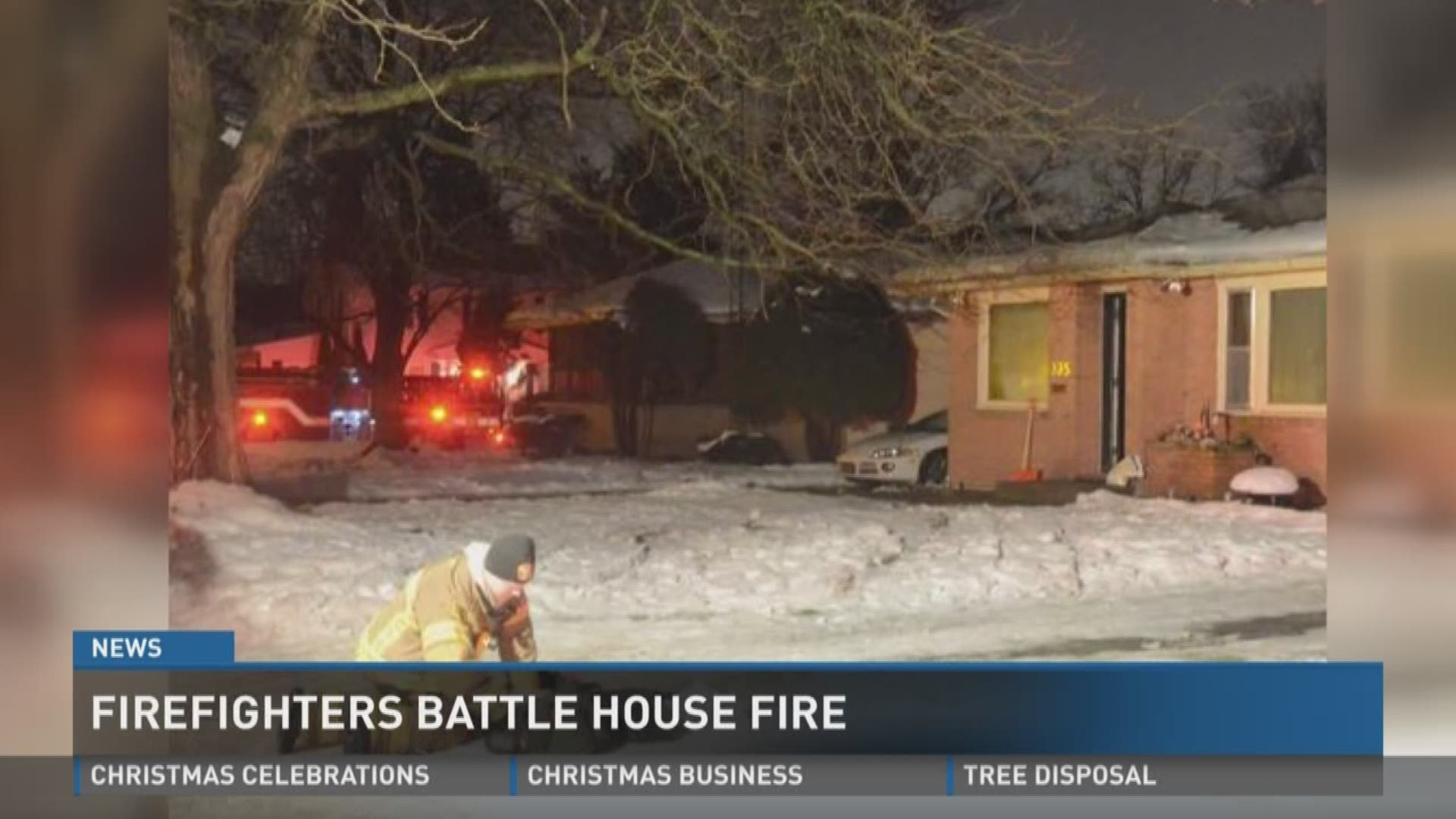 Christmas Fire In Battle Creek Causes Serious Damage To Family Home Wzzm13 Com